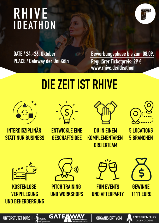Startup-Konferenz RHIVE 2019 mit Ideathon für Studierende