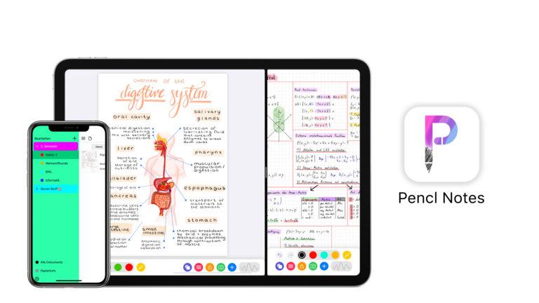 Pencil Notes – die App, die Kugelschreiber, Bleistift, Textmarker, Radiergummi und Schere zugleich ist