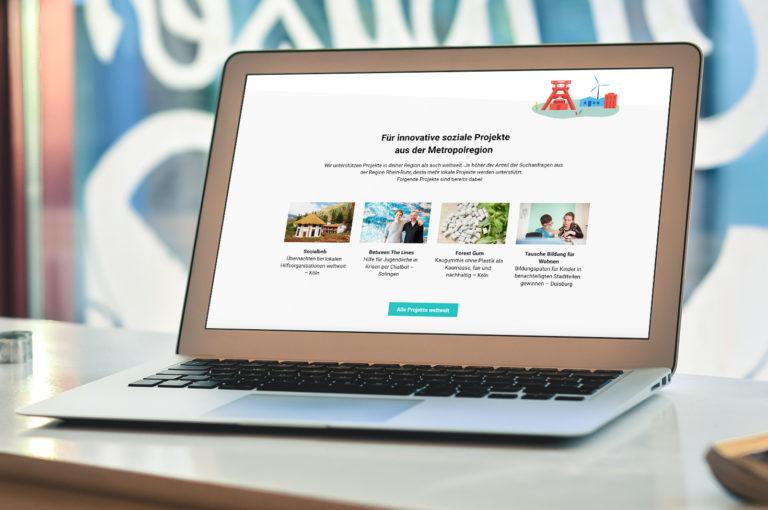 Start einer nachhaltigen Internet Suchmaschine für die Metropolregion Rhein-Ruhr